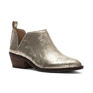 Lucky Brand   Fayth Metallic Leather Ankle Booties